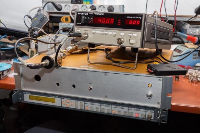 40,88 dBm carriervermogen (zonder video gemeten)