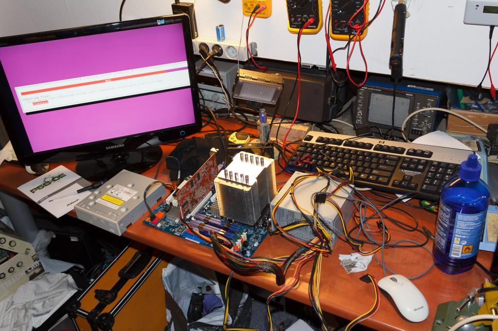 Server 5 in aanbouw