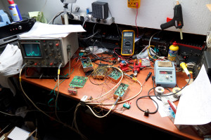 Spectrum analyzer in testopstelling