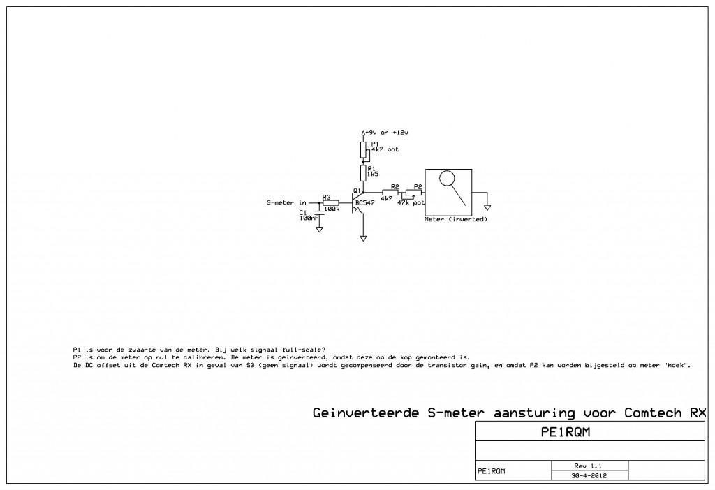 Comtech S-meter aansturing (geinverteerd)