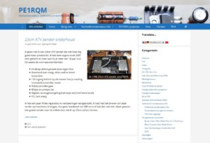 PE1RQM website april 2016