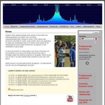 PE1RQM.nl website layout februari 2014