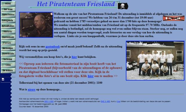 PTF website 2001