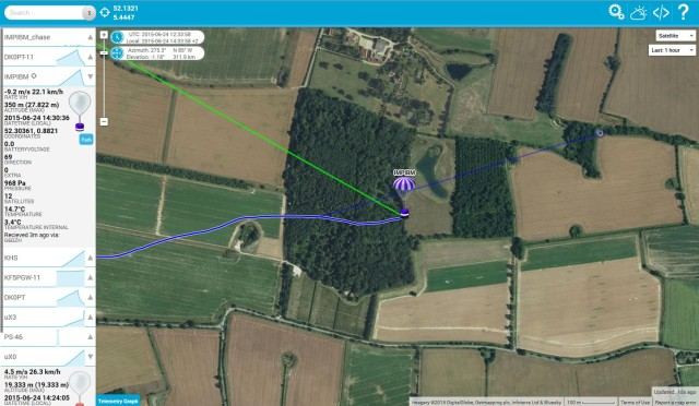 Satellite view HabHub tracker
