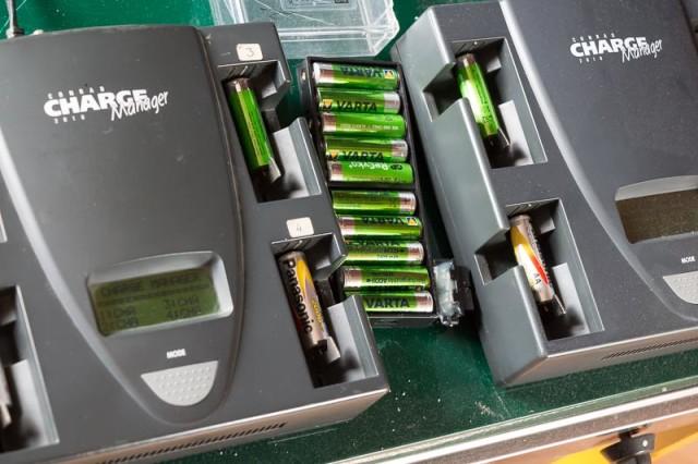 Alle batterijen maar weer opladen!