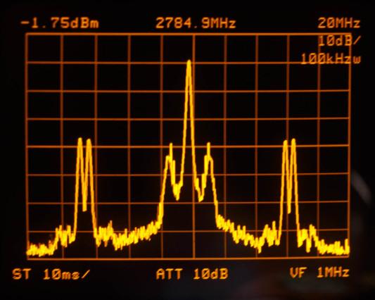 Echt uit de lucht ontvangen signaal van videozendertje van Airwave
