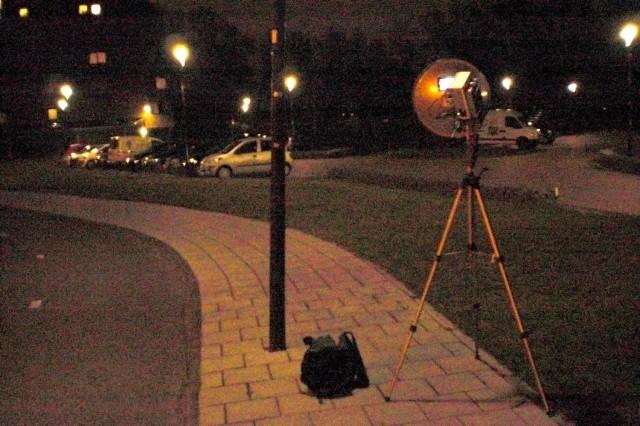 Mijn plek in Leusden in de avond in verbinding met PE1BQE.